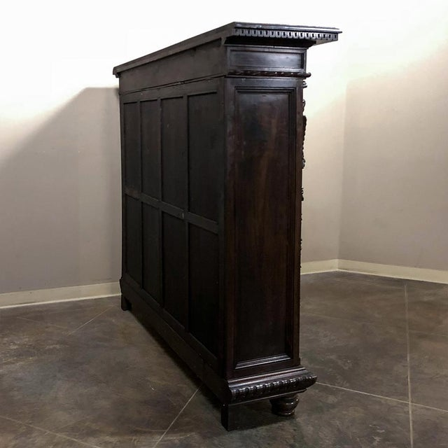 Wood 19th Century Italian Neoclassical Walnut Barrister's Bookcase For Sale - Image 7 of 12