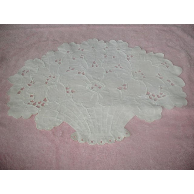 1950s Embroidered Furniture Scarves, 1950s - Set of 3 For Sale - Image 5 of 7