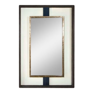 Paul Marra Negative Space Distressed Finish & Horsehair Mirror For Sale