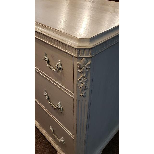 French French Walnut Painted Chest of Drawers 19th Century For Sale - Image 3 of 6