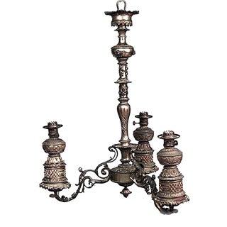 American Victorian Bronze Chandelier For Sale