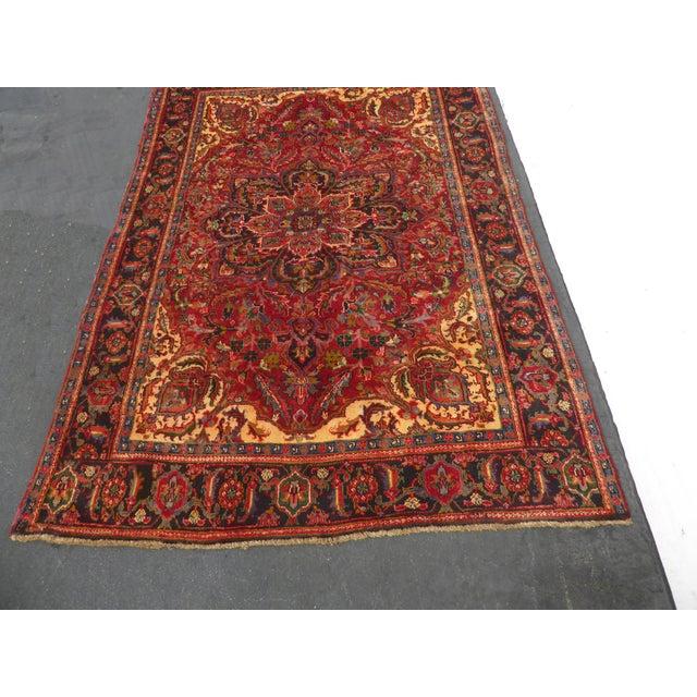Vintage Red Floral Design Persian Rug - 7′ × 9′ For Sale - Image 4 of 9