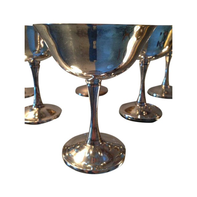 Silver Plated Stemmed Goblets - Set of 6 - Image 4 of 6