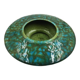 Vintage Freeman McFarlin Blue & Green Ceramic Planter For Sale