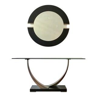 Dania Furniture Co. Tangent Console Table & Mirror