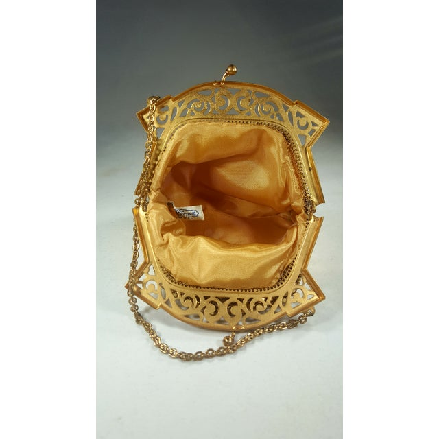 Whiting & Davis Vintage Whiting and Davis Gold Mesh Evening Bag For Sale - Image 4 of 5