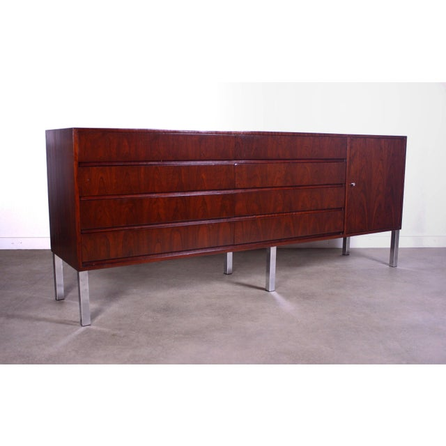 1950s 1950s Mid Century Modern Rosewood Credenza For Sale - Image 5 of 5