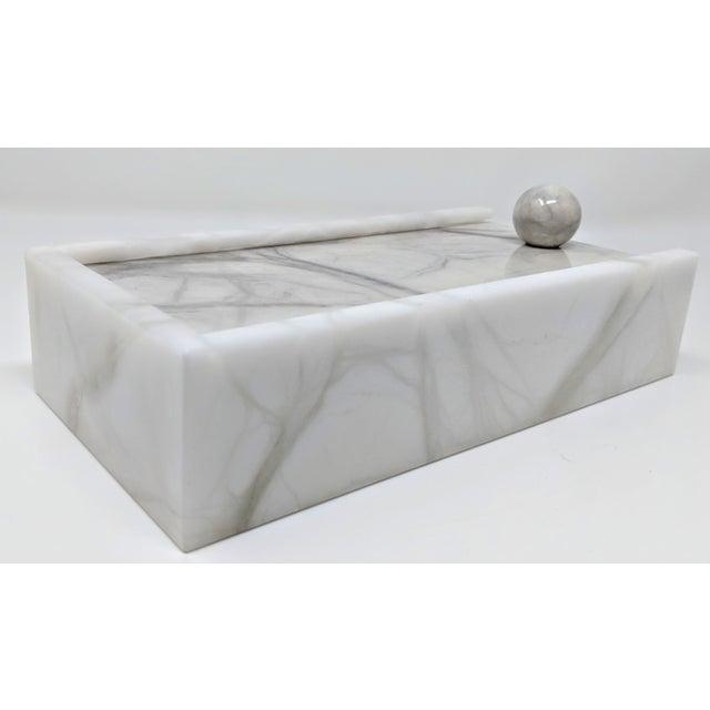 Hermes Inspired Alabaster Box For Sale - Image 11 of 12