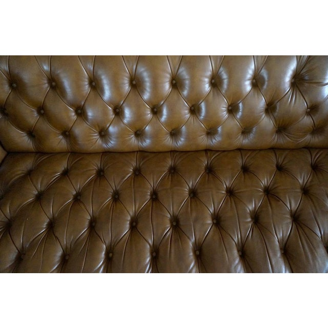 Excellent Schafer Bros Leather Chesterfield Tufted Sofa Machost Co Dining Chair Design Ideas Machostcouk