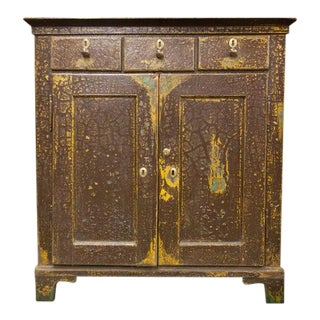 Early 19th Century Weathered Brown English Jelly Cupboard For Sale
