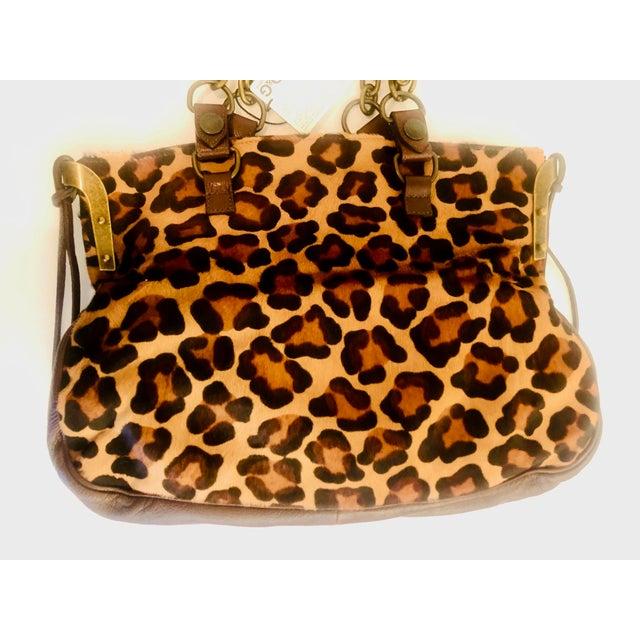 Dolce & Gabbana D & G Leopard Fur Satchel Purse For Sale - Image 9 of 10