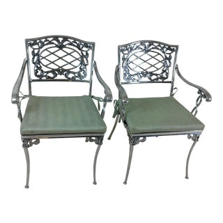 French Aluminum Side Chairs - A Pair For Sale