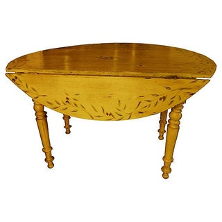 Antique French Provençal Yellow Dining Table For Sale