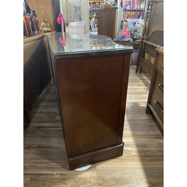 """Mahogany """"Drexel Heritage Credenza For Sale In Tampa - Image 6 of 9"""