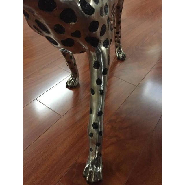 Silver Cheetah Metal Sculpture For Sale - Image 8 of 9
