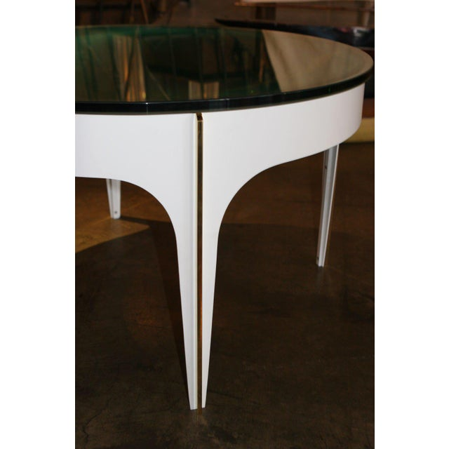 ma+39's Custom Ivory Magnifying Lens Coffee Table For Sale - Image 4 of 7