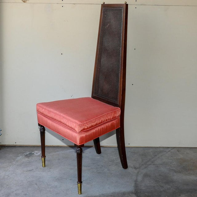 Danish Modern Adrian Pearsall Style Vintage Cane Back Side Chairs - a Pair For Sale - Image 3 of 11