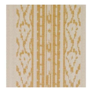 Duralee Natural & Gold Fabric - 1 Yard For Sale