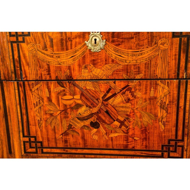 19th Century French Marquetry Commode For Sale - Image 10 of 10