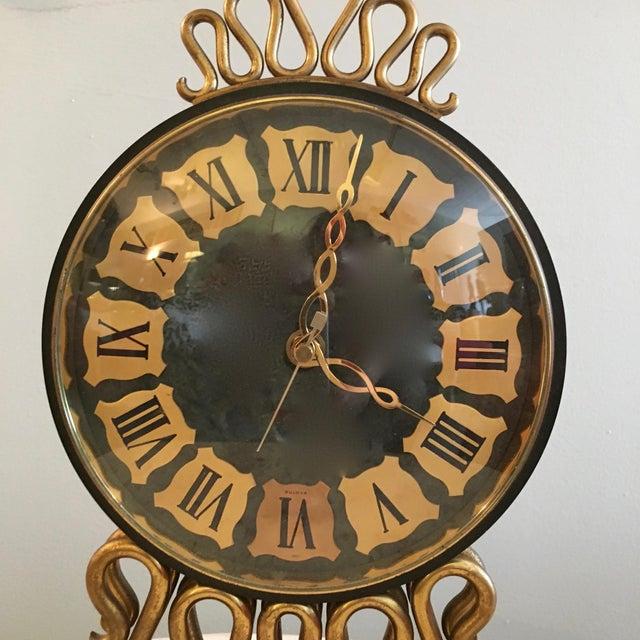 Mid-Century Bulova Table Clock For Sale - Image 4 of 6