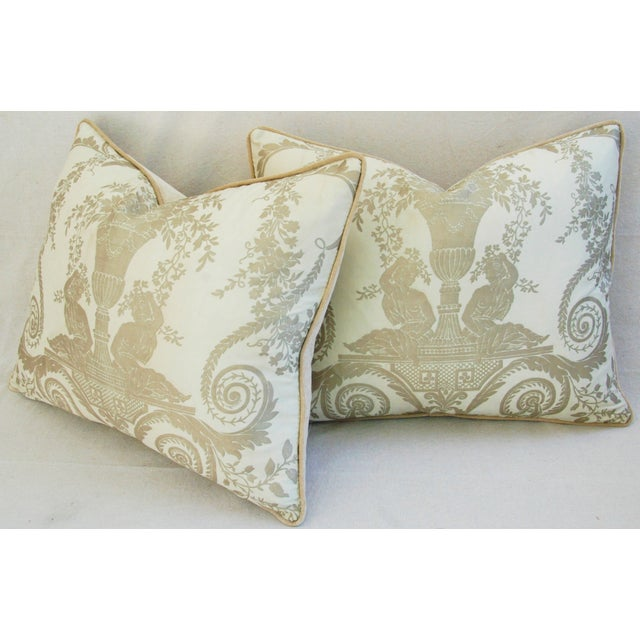 Custom Italian Fortuny Lamballe Pillows - Pair - Image 10 of 11