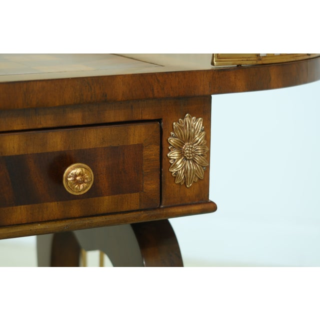 Maitland Smith Checkerboard Reversible Top Mahogany Games Table For Sale - Image 12 of 13