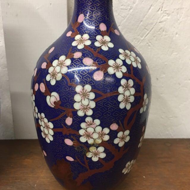 Cloisonné Vintage Vases - A Pair - Image 3 of 8