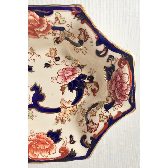 "Ceramic English Mason's Gaudy Welsh Ironstone Dish-""Mandalay"" For Sale - Image 7 of 10"
