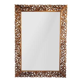 Teak Carved Mirror Frame