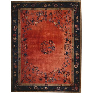 "1920s Antique Nichol Art Deco Chinese Rug-9'x11'8"" For Sale"