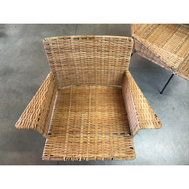 Van Keppel Green Rattan & Iron Chairs - A Pair - Image 3 of 11
