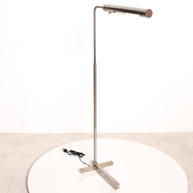 1980s Mid-Century Modern Nickel Plated Task Reading Pharmacy Lamp by Casella For Sale - Image 5 of 11
