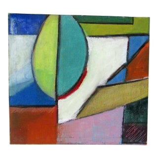 Original Signed Large Colorful Abstract Painting For Sale