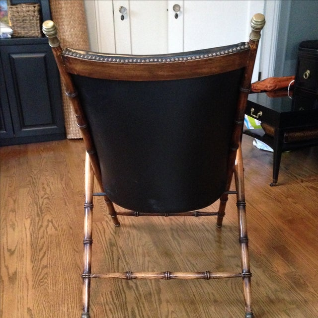 Antique Folding Campaign Chair - Image 5 of 7