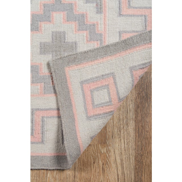 "2010s Erin Gates by Momeni Thompson Brookline Pink Runner Hand Woven Wool Area Rug - 2'3"" X 8' For Sale - Image 5 of 8"