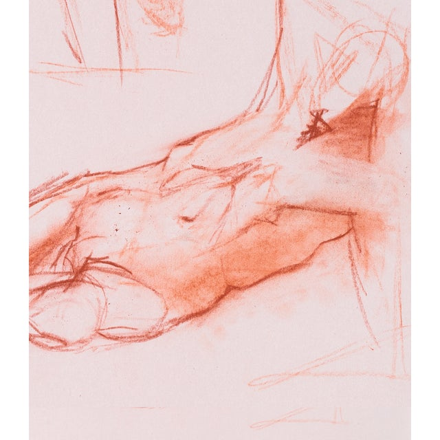 Red Chalk Gesture Drawing - Image 3 of 3
