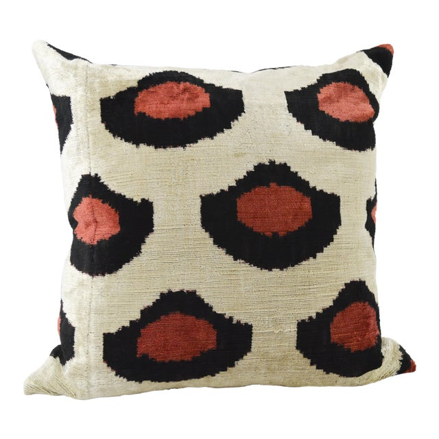 Red & Black Dot Pillow With Insert For Sale
