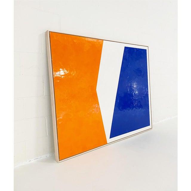 Abstract John O'Hara, Sidewalk, Encaustic Painting For Sale - Image 3 of 7