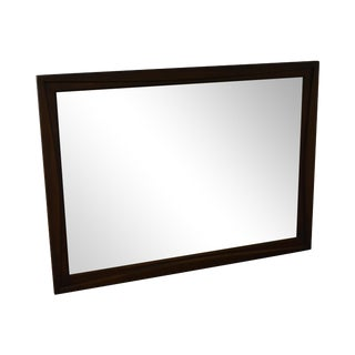 Mid Century Modern Walnut Frame Rectangular Wall Mirror