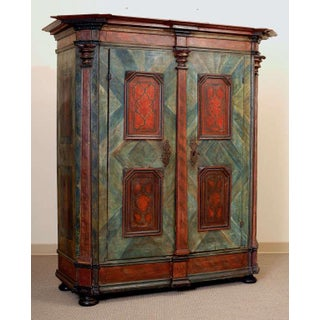 19th Century Painted Armoire Preview