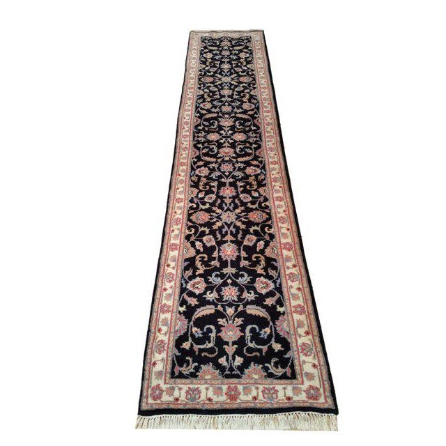 Traditional 12 Ft Wool Handmade Knotted Runner Rug 2 7 X 12 7