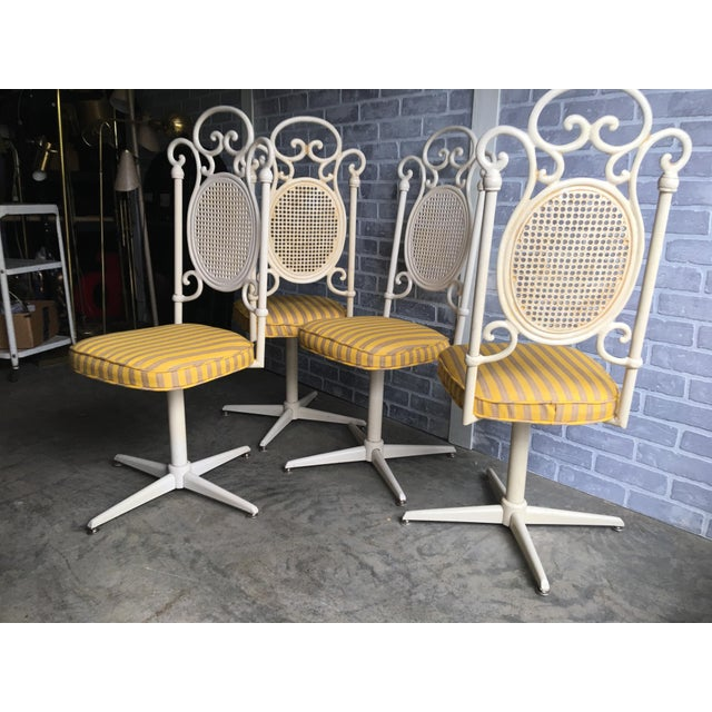 Vintage Victorian White Cast Iron Dining Set For Sale - Image 9 of 13