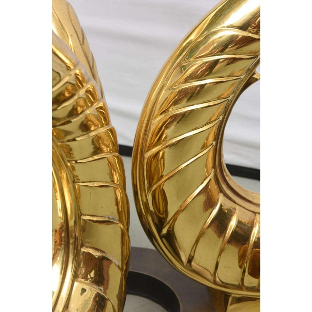 Italian Brass Koi Fish Sculptural Table Bases, 1960s, Italy For Sale In Miami - Image 6 of 9