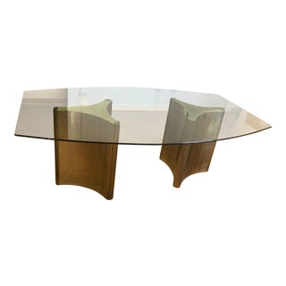 Mastercraft Brass Trilobi Dining Table For Sale