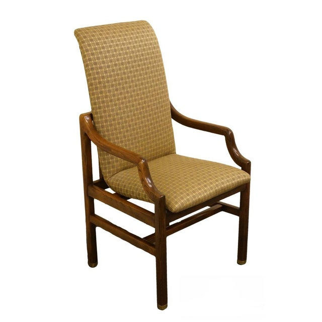 Henredon Mid-Century Modern Solid Walnut Dining Arm Chair For Sale - Image 13 of 13