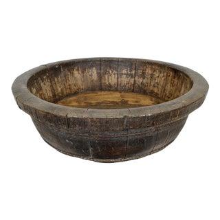 Vintage Wood Barrel Bowl For Sale