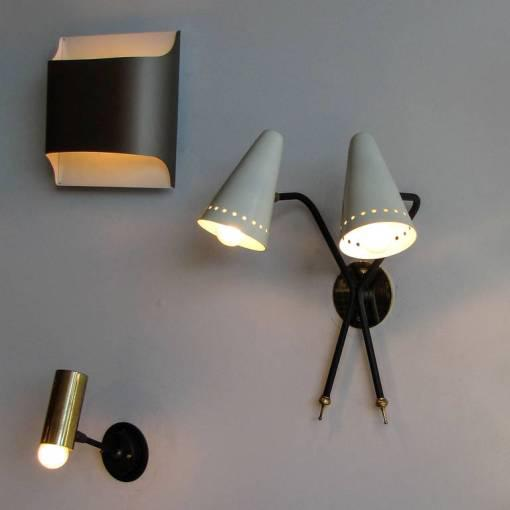 French Double-Arm Wall Light by Arlus - Image 10 of 10