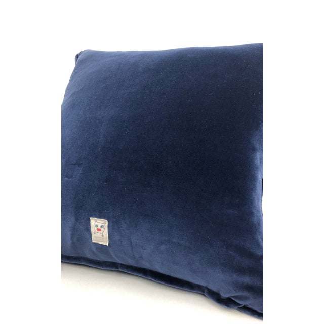 "Staffordshire Blue 20"" Custom Blended Down Floor Pillow For Sale - Image 10 of 11"