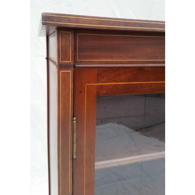 Antique Mahogany Glass Door Bookcase - Paine's Furniture For Sale In Denver  - Image 6 of - Antique Mahogany Glass Door Bookcase - Paine's Furniture Chairish