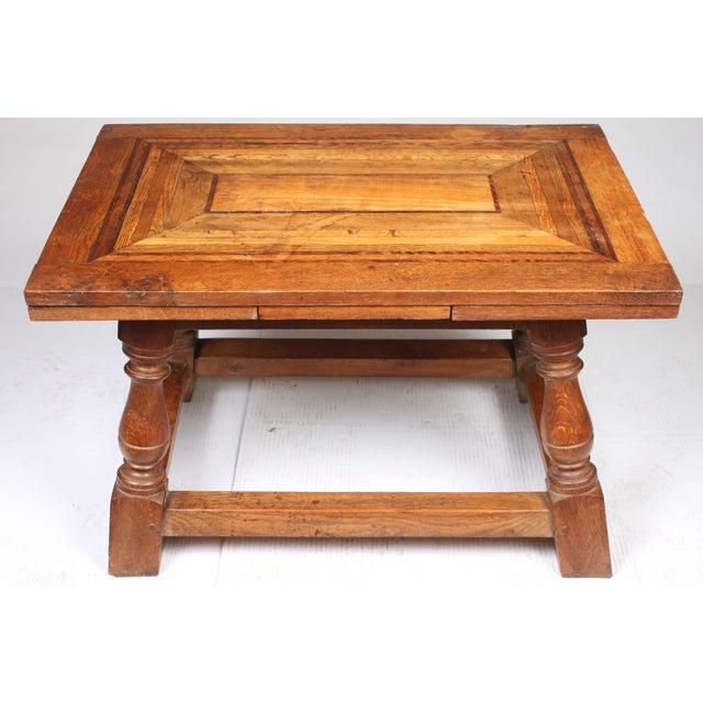 1920s Cherry Mahogany & Oak Coffee Table - Image 3 of 7